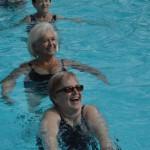 cvičení bazén
